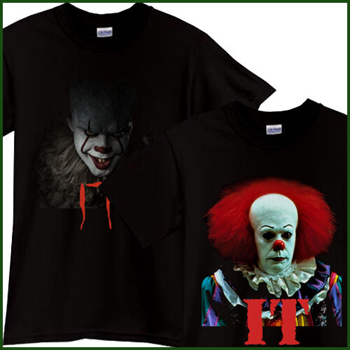 New IT Pennywise Clown Stephen King 1990 2017 Horror Movie T-Shirt