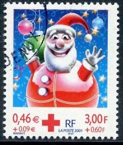 Timbre France Oblitere N° 3436 Croix Rouge Pere Noel