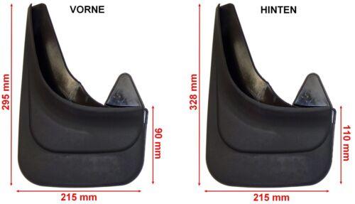 4-Teilig Schmutzfänger Gummi universal schwarz vorne+hinten