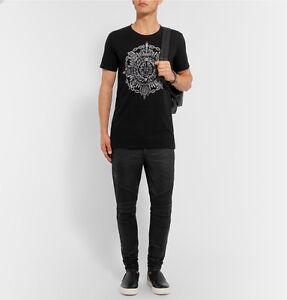 BALMAIN-1265-Authentic-New-Skinny-Black-Coated-Stretch-Denim-Biker-Jeans-FW16