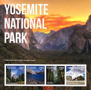 St Vincent Grenadines 2014 Neuf Sans Charnière Parc National De Yosemite Je 4v M / S Grant Cascades Facile à Utiliser