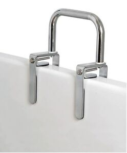Bathtub Safety Rail Grab Bar Tub Carex B20100 Bathroom Chrome Support Stability Ebay