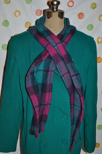 Femmes à Coat 12 Chic Mackintosh Warm W Warm Usa en double Green Scarf boutonnage laine dpxSw0qS