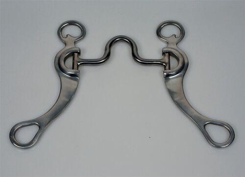 "Interurbains aluminium highport bit 5/"" 12.7cm western dentier mors cheval"