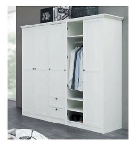 kleiderschrank landwood schrank garderobenschrank schlafzimmerschrank wei ebay. Black Bedroom Furniture Sets. Home Design Ideas