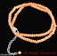 2x4mm Orange South America Topaz Faceted Roundlle Gemstone Necklaces 20/'/'