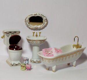 Badezimmer set porzellan konvolut mit deko puppenstube 1 for Badezimmer deko set