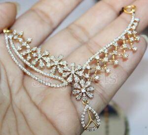 1-80ct-Natuerlich-Rund-Diamant-14K-Gelbgold-Hochzeitstag-Mangalsutra