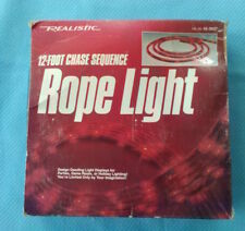 Radio Shack (Realistic) 12' Rope Light 42-3037 Chase Sequence - New/Old Stock