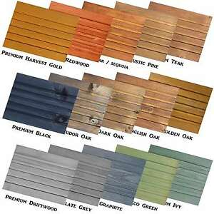 Premium Decking Exterior Wood Stain Dye Shed Fence Patio Furniture