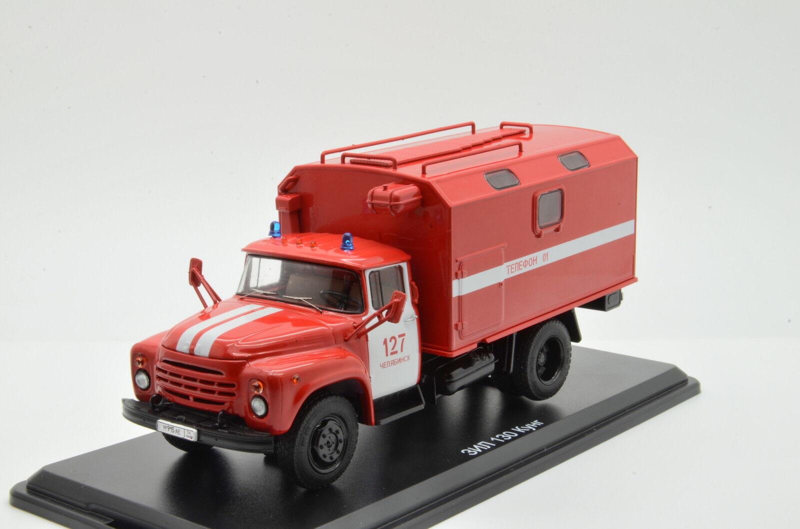 Muy RARO ZIL 130 Kung camión de bomberos SSM Ruso USSR 1 43