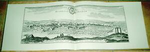 Hildesheim-alte-Ansicht-Merian-Druck-Stich-1650-Staedteansicht-Niedersachsen