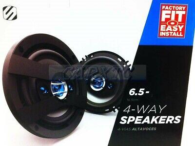 """6.5 // 6.75/"""" E 165mm Car Speakers Rear Door 4way 400w 4ohm 654-RD"""