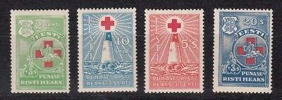 1931 Rotes Kreuz 90-93 */**, Stil; Estland 26025 In Modischer