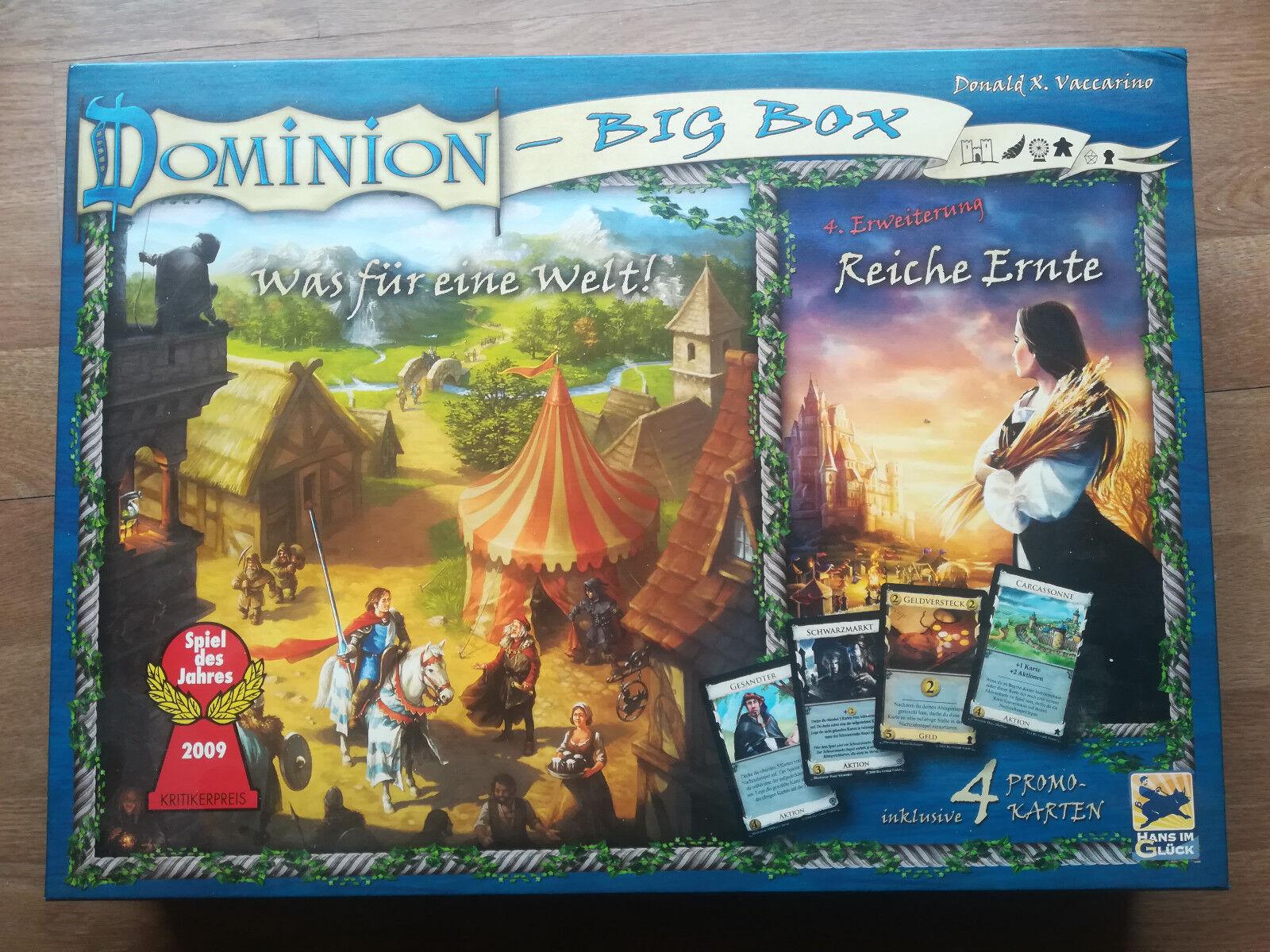 Dominion Big Box - Was für eine Welt - Reiche Ernte inkl. 4 Promokarten, wie neu