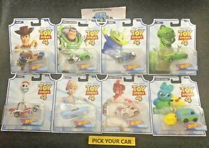 Hot-Wheels-Toy-Story-4-Character-Cars-Pick-your-CAR-Make-your-Lot-CLOSEOUT