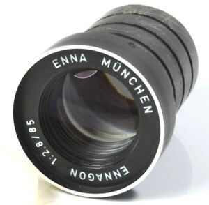 ENNA-Munchen-Ennagon-2-8-85mm-Slide-Movie-Projection-Projector-Lens-with-Cap