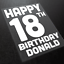 Happy Birthday Iron-On Transfers 13th 16th 18th 21st Create your own T-Shirt