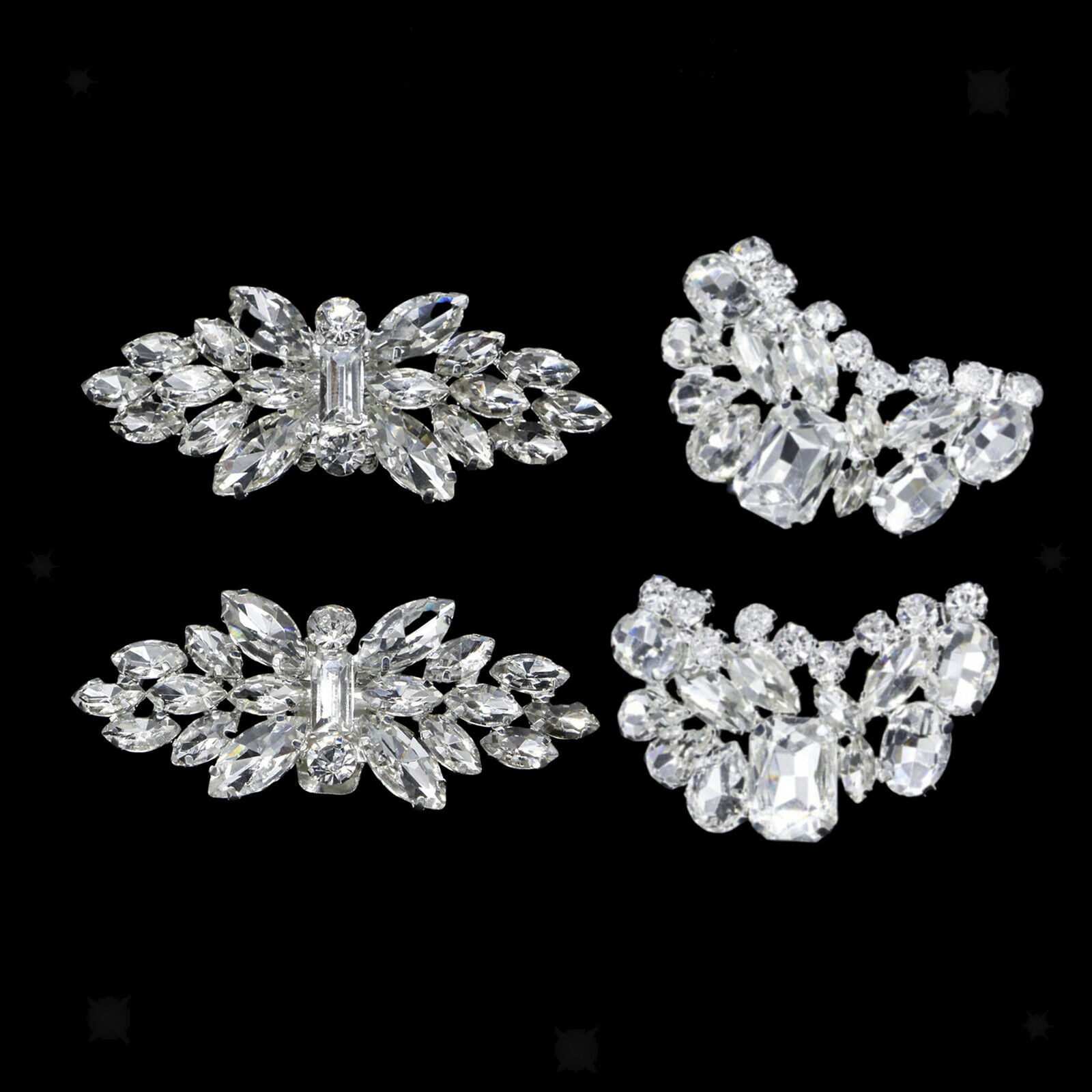 Rhinestone Shoe Clips Lady Removable DIY Bridal Prom Shoe Buckle Charms