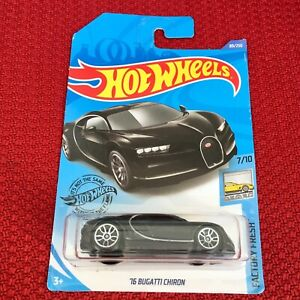 Hot-Wheels-BUGATTI-CHIRON-BLACK-HW-Exotics-Sport-Car-Toy-Mattel-Brand-NEW