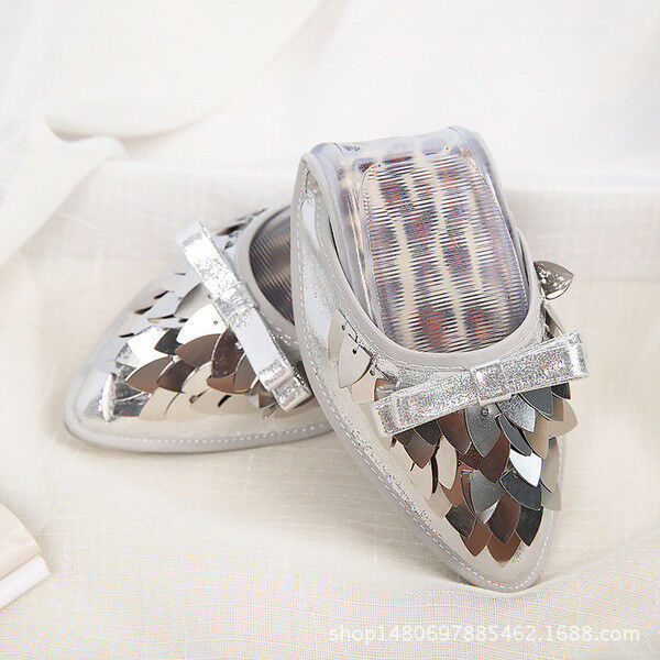 Ballet flats loafers shoes woman comfortable silver black gold soft like