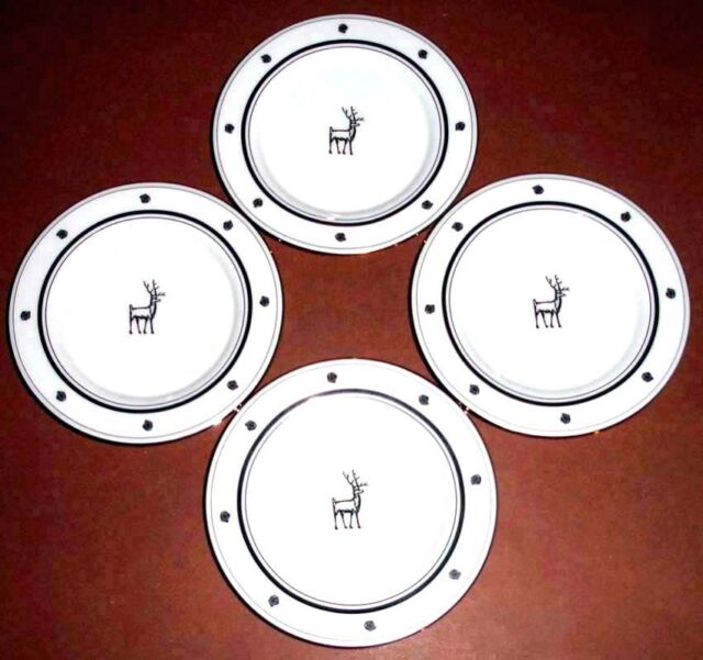 Kate Spade York Larabee Road Black Tidbit Plate Set 4 Ct For Sale Online Ebay