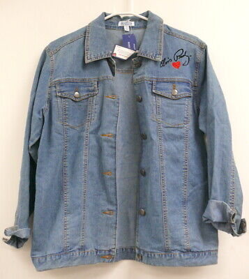 Bradford Exchange Blossoming Hope Lightweight Women/'s Embroidered Jacket SZ:L