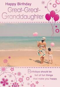 Image Is Loading Happy Birthday Great Granddaughter Beach Design
