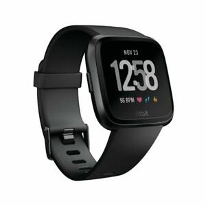 Fitbit Versa Fitness Smartwatch LARGE - BLACK IN ORIGINAL BOX