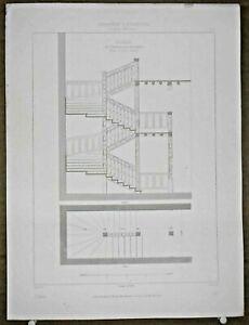 Gravure-d-039-Architecture-Escalier-de-l-039-ancienne-cour-des-comptes-2