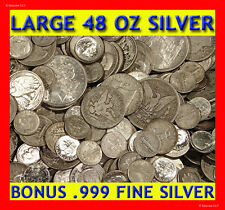"""ABSOLUTELY THE BEST OLD UNSEARCHED SILVER COIN LOT DEAL ON EBAY! """"48 OUNCES!"""""""