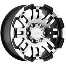 4 Vision 375 Warrior 18x85 6x55 18mm Blackmachined Wheels Rims 18 Inch Fits Nissan Armada