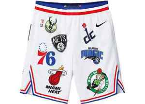 Nike-Supreme-NBA-Teams-Basketball-Shorts-Size-Large-AQ4231-100-White-38R-SS18-B