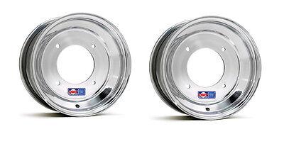 """DWT Polished ATV Front Wheels Rims PAIR 10/"""" Honda 450R 400EX 250R 300EX 250X 250"""