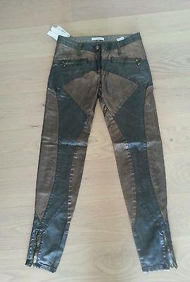 Faith Connexion Damen Gewachste Stretch Baumwolle Denim Biker Jeans Gr.26 | eBay
