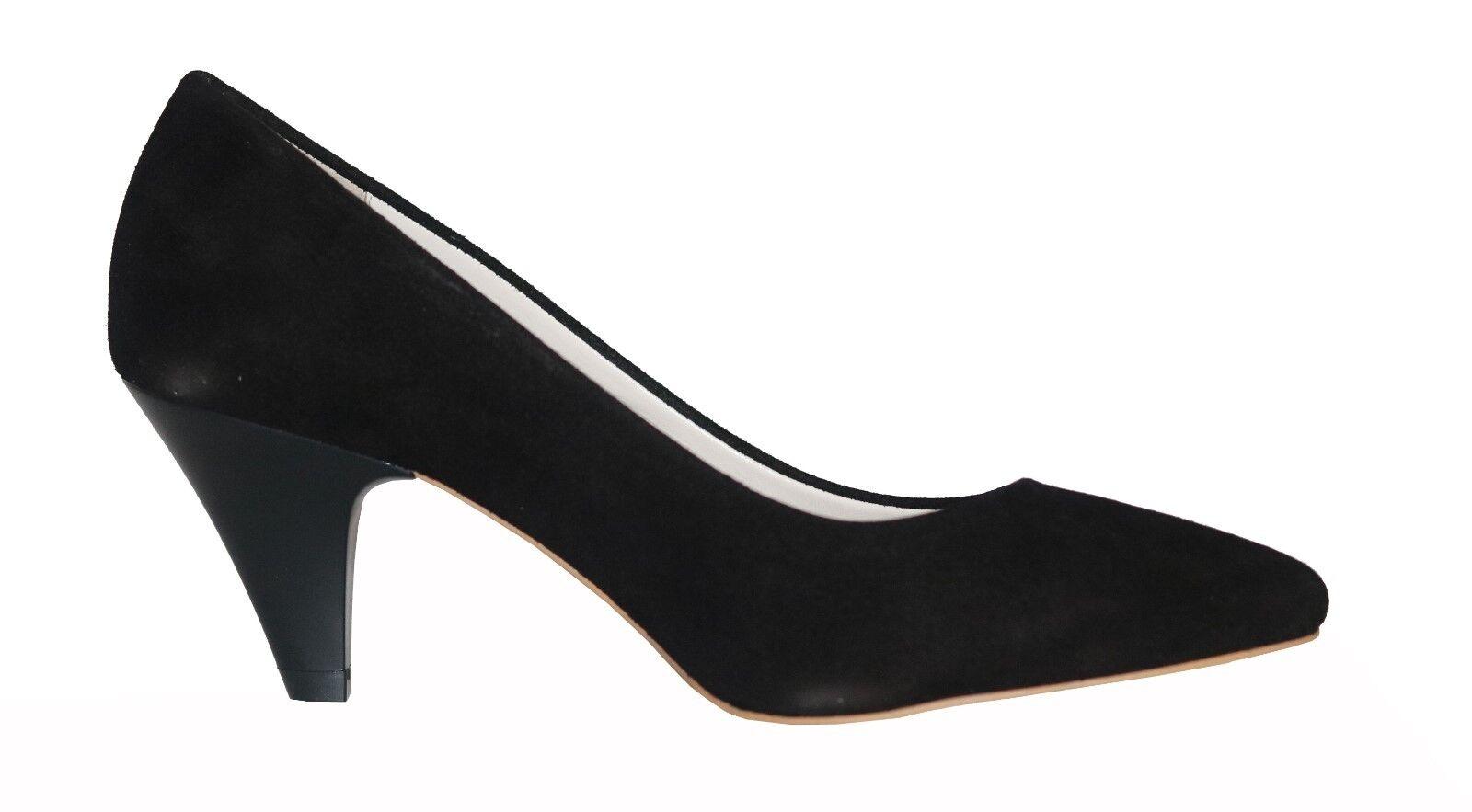 Nubukleder Damen Schuhe Pumps Gr.39 Schwarz