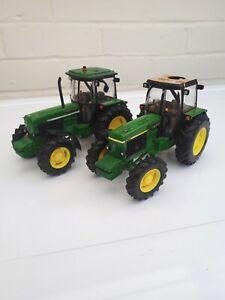 BRITAINS-FARM-TOYS-JOHN-DEERE-3350-TRACTOR-X2