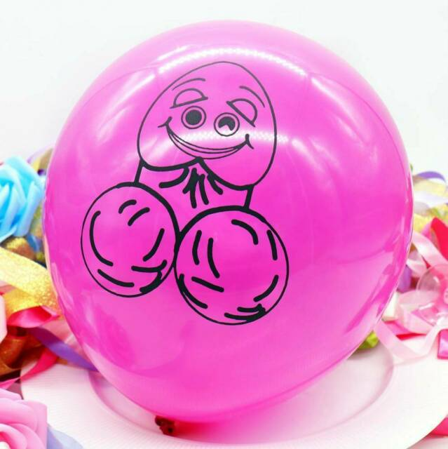 Happy Pecker Pink Purple Balloons (Pack of 10)
