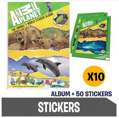 Animal Planet Sticker Packs 6 X single packs