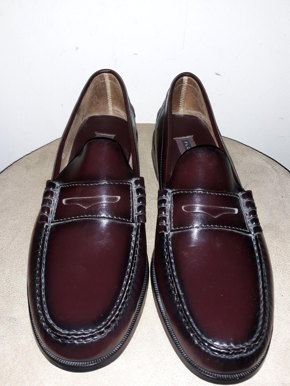 EC Florsheim 17058 05 Berkley Burgundy Men's Penny Loafer shoes 11D