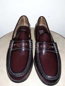 bd9b4f16c38 EC Florsheim 17058 05 Berkley Burgundy Men s Penny Loafer Shoes 11D ...