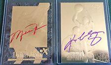 MICHAEL JORDAN EX-2000 & KOBE BRYANT AUTOGRAPHED 23KT GOLD ROOKIES 2 CARD LOT!