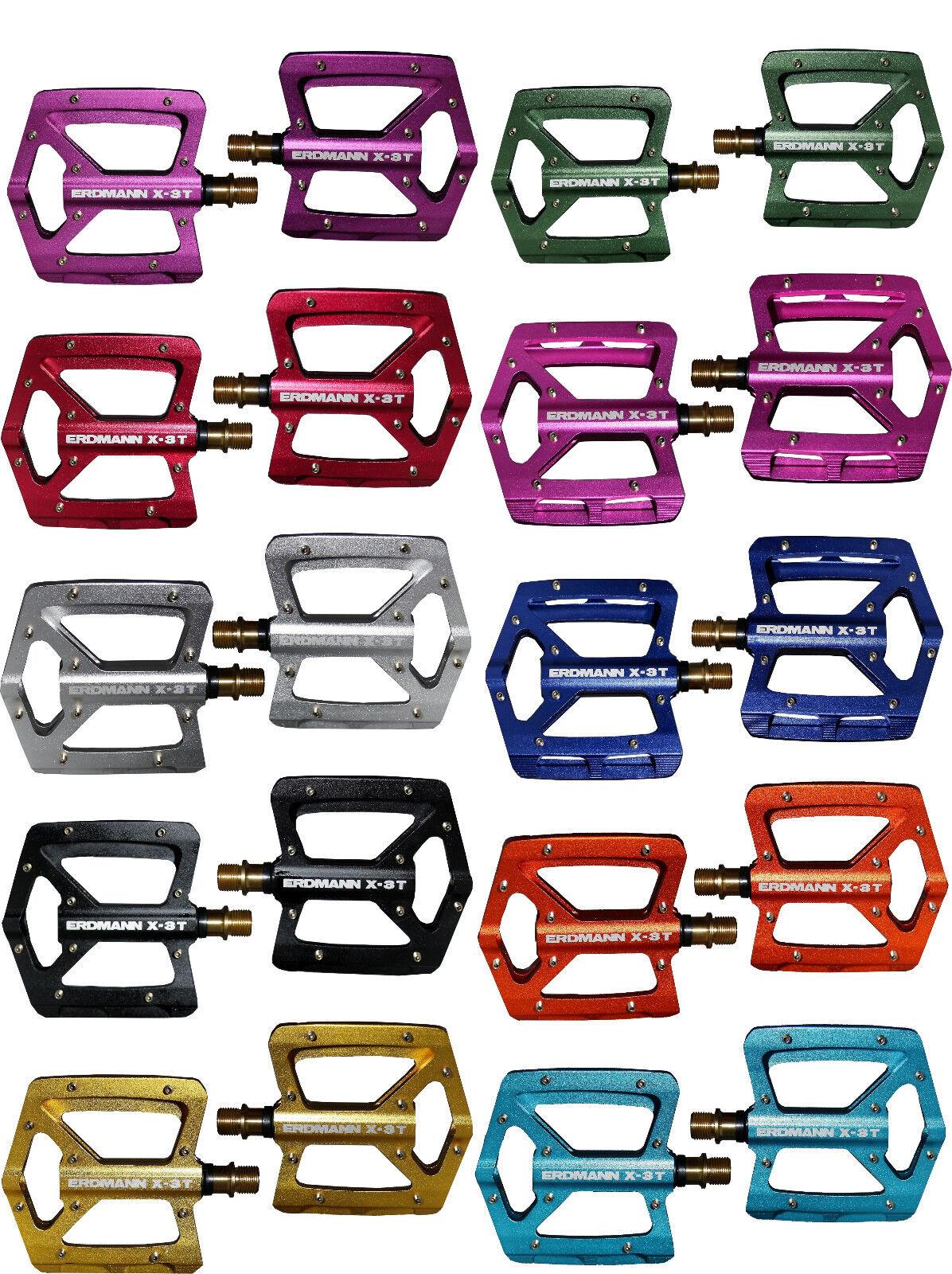 Alluminio pedali plateau Erdmann x 3 titanio con perno in diversi colori