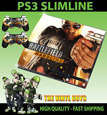 PLAYSTATION PS3 SLIM STICKER BATTLEFIELD HARDLINE 02 HAND GUN SKIN & 2 PAD SKINS