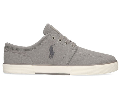 Polo Ralph Lauren Men's Faxon Low Sneaker GreyChambray