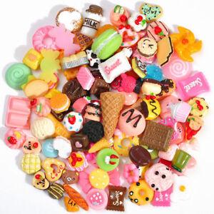 Fast-Food-Squishy-Charms-Squeeze-langsam-steigende-Spielzeug-Geschenk-100Pcs