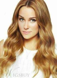 100% Real hair! New Fashion Charm Women's Long Blonde Brown Wavy Human Hair Wigs