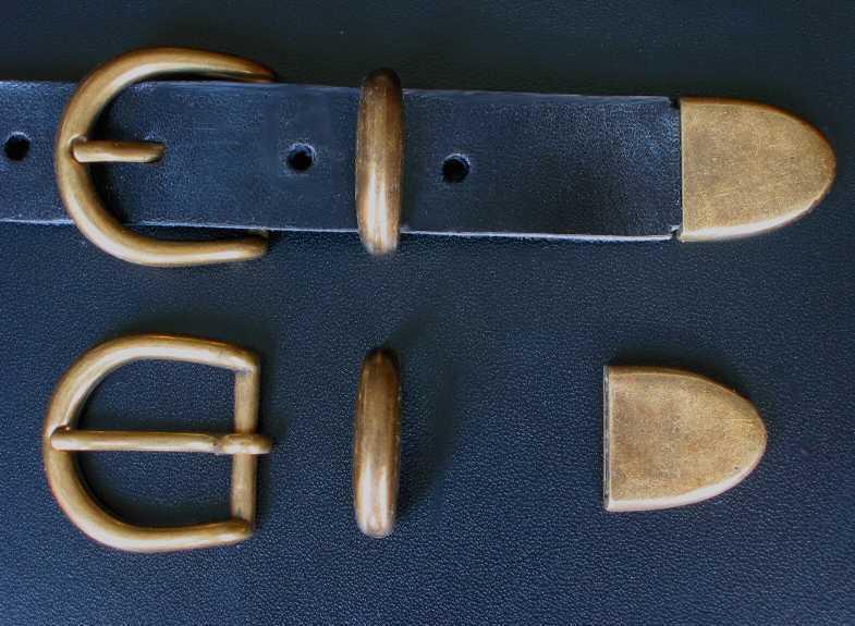 Gürtelschnalle NEU für 2,5cm breite GÜRTEL inkl. SCHLAUFE + SPITZE Metall TOP #