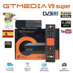 Original gtmedia v9 super DVB-S2 Satellite TV Receiver Built-in Wifi HD 1080P