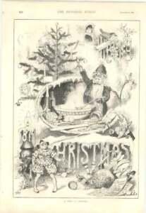 1879 Interesting Sketch A Vision Of Christmas Unusual - Bishop Auckland, United Kingdom, United Kingdom - 1879 Interesting Sketch A Vision Of Christmas Unusual - Bishop Auckland, United Kingdom, United Kingdom